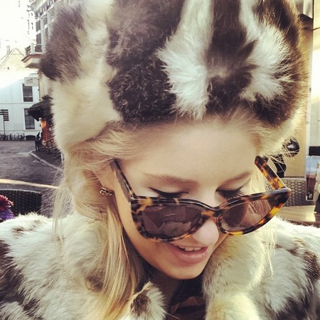 Phoebe lettice thompson - furry hat - fashion lessons made in chelsea - handbag.com