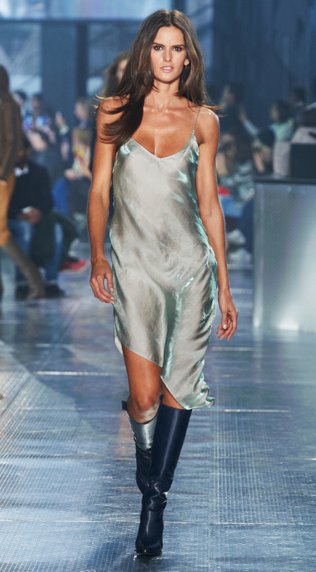 Slip dresses at H&M's Paris Catwalk Show - Autumn Winter 2014 - high street fashion news - catwalk collections - handbag.com