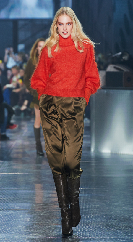 Silks and jumpers at H&M's Paris Catwalk Show - Autumn Winter 2014 - high street fashion news - catwalk collections - handbag.com