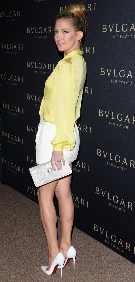 kate hudson wearing yellow - matching nail art to handbag trend - celebrity spring fashion trends - handbag.com
