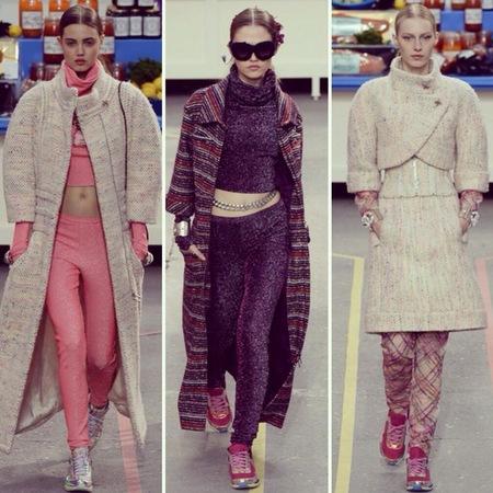 Chanel trainers at Paris Fashion Week - Chanel catwalk show AW14 - fashion week - comfortable shoes - fashion news - handbag.com