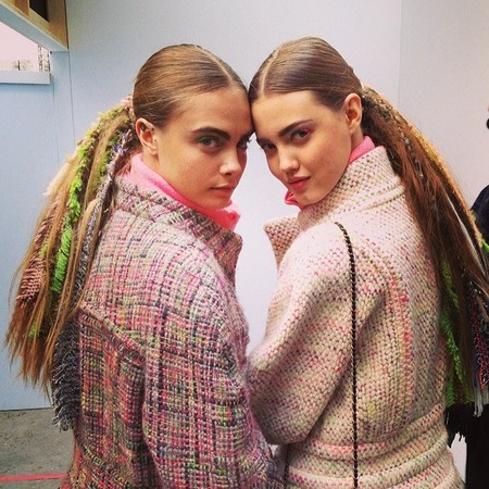 Fashion trial - cara delevingne and Lindsey Wixson - sam mcnight - braid chanel ponytail - handbag.com