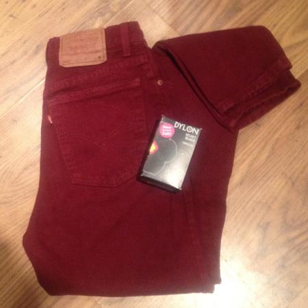 How to dye black jeans -1 - using colour stripper - washing machine dye - handbag.com