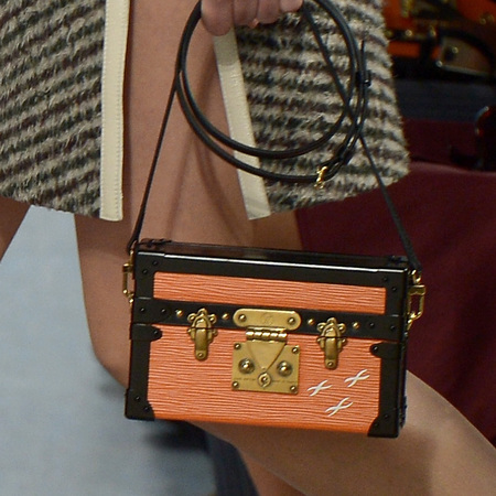 Louis Vuitton - orange box handbag - paris fashion week - autmun/winter 2014 - handbag.com