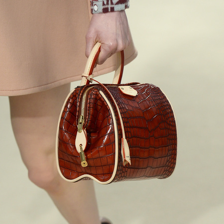 Louis Vuitton - red croc bowling handbag - paris fashion week - autmun/winter 2014 - handbag.com