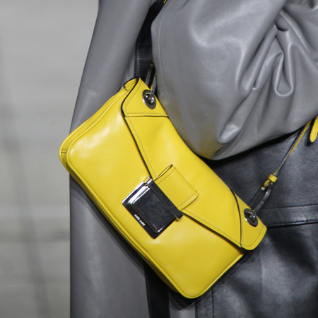 Miu Miu- paris fashion week - autumn winter 2014 - handbag collection - yellow mini bag - handbag.com