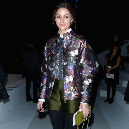 Olivia Palermo - Valentino AW14 - Valentino Va Va Voom leather shoulder bag - Paris Fashion Week 2014 - celeb fashion news - handbag.com