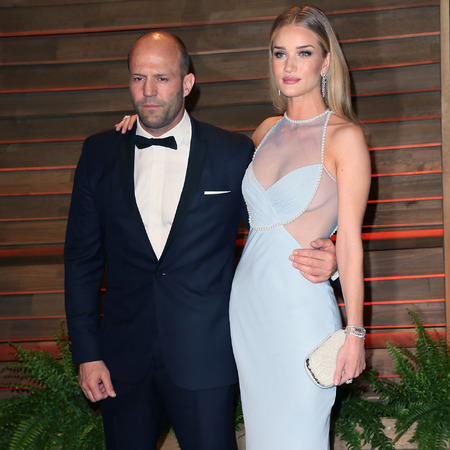 Rosie Huntington-Whiteley and Jason Statham at the Vanity Fair Oscars Party - Oscars Awards ceremony 2014 - celeb fashion news - shopping bag - handbag.com