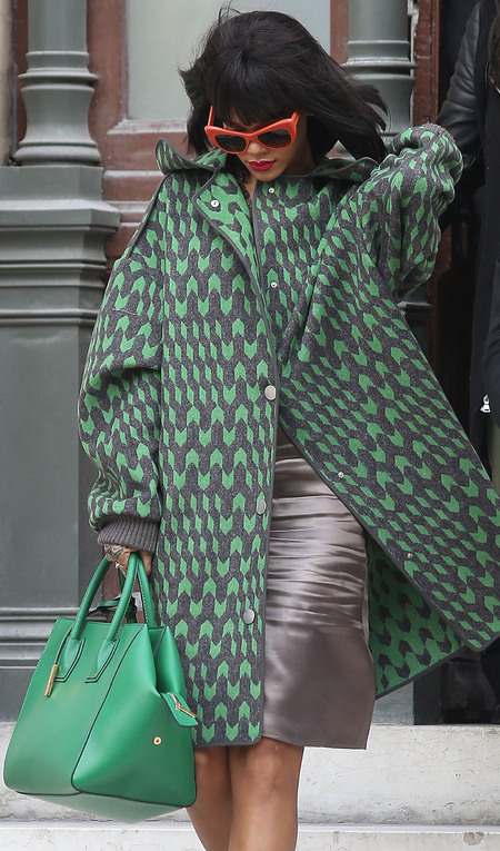 Rihanna's Stella McCartney green tote bag