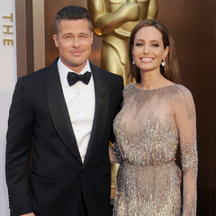 Brad Pitt and Angelina Jolie at the Oscars 2014 - red carpet fashion - men at the Oscars 2014 - Oscars beauty - celebrity news - handbag.com
