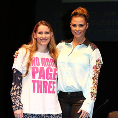 Katie Price - Laura Bates - No More Page Three - Everyday sexism - wow festival - handbag.com
