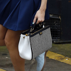 Pixie Lott - Dolce and Gabbana - black and white handbag - new single nasty - handbag.com