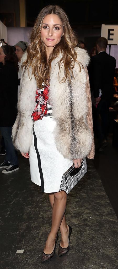 Olivia Palermo's fur gilet