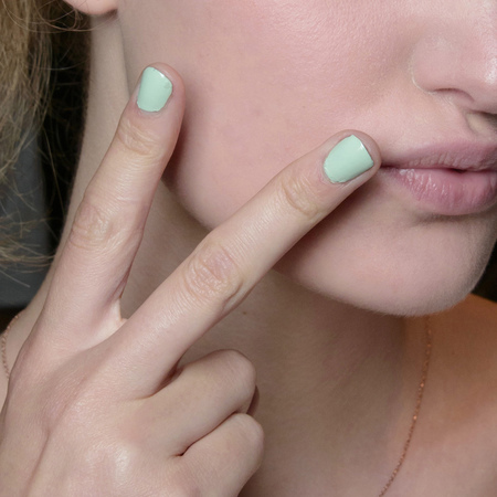 aqua pastel colour nail trend - spring summer 2014 nail trends - barcelona fashion week ss14 - handbag.com