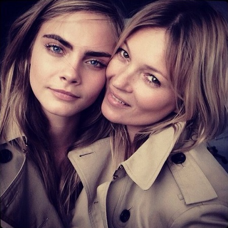 cara delevingne and kate moss for burberry - new perfume - iconic models - handbag.com