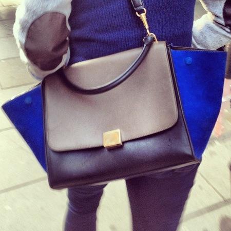 celine trapeze bag - handbag spy street style - handbag.com