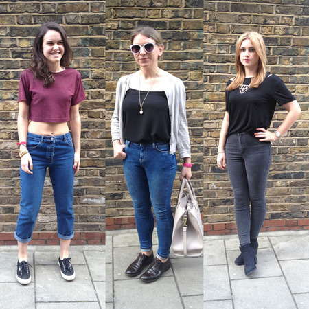 Fashion trend on trial - high waisted jeans - how to wear at weekend - office - night out - handbag.com