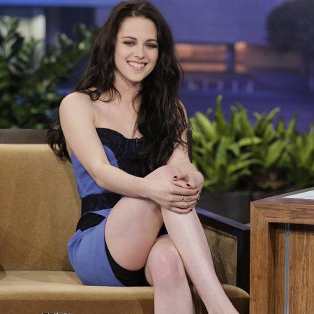 kristen stewart flashes spax on tv - late show with jay leno 2011 - celebrities who wear control shapewear underwear - handbag.com