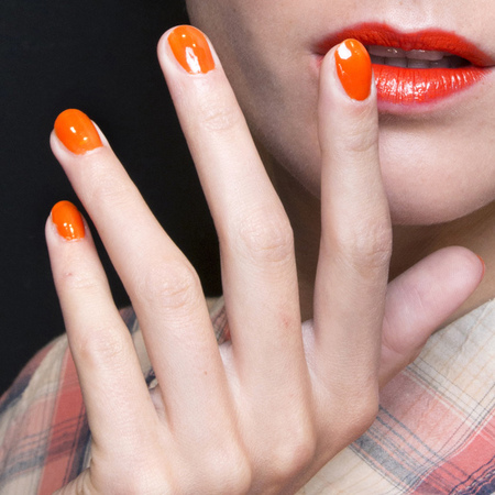 orange nails colour trend - nail trends spring summer 2014 - Parah fashion week ss14 - handbag.com