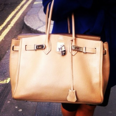 tan brown hermes birkin bag - handbag spy street style - handbagcom