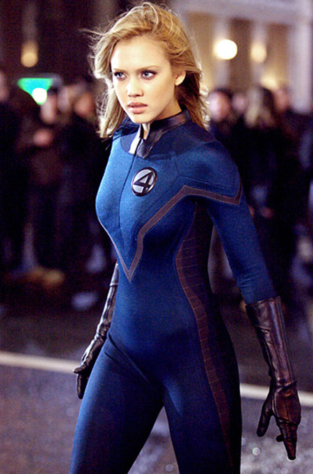 jessica alba fantastic four costume - celebrities wearing spanx control shapewear pants - handbag.com