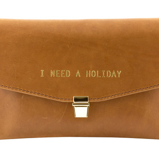 Betty Brice - i need a holiday clutch bag - tan leather clutch - buy it - handbag.com