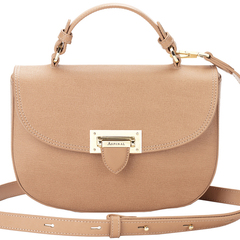 aspinal london new leather saddle bag - letterbox handbag collection - small brown crossbody bag - handbag.com
