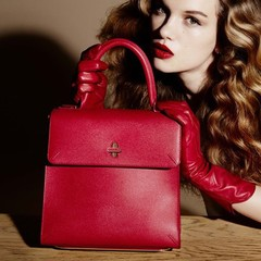 charlotte olympia bogart bag - red handbag - retro work handbag - handbag.com