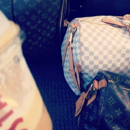 Helen Flanagan's Louis Vuitton travel bags