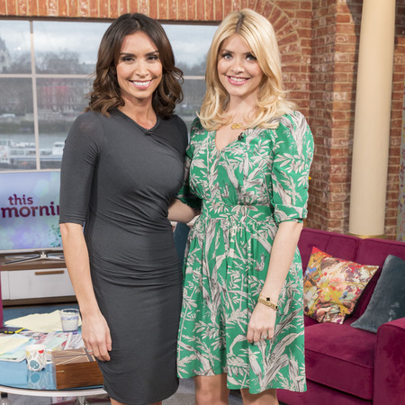 Holly Willoughby and Christine Bleakley - this morning - how to dress for spring when you're expecting - handbag.com