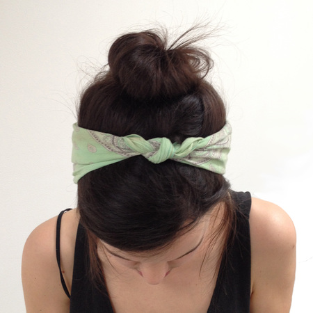 How to wear a bandana - top knot - from above - forties style - handbag.com