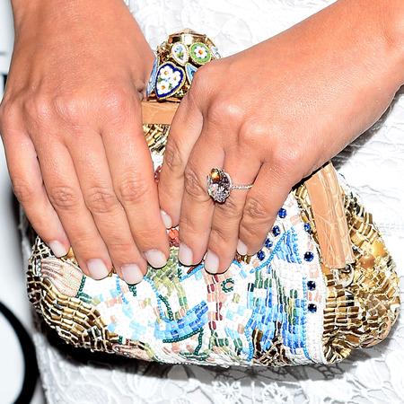 kim kardashian dolce gabbana floral print clutch bag - birthday outfit - kim kardashian kanye west engagement ring - handbag.com