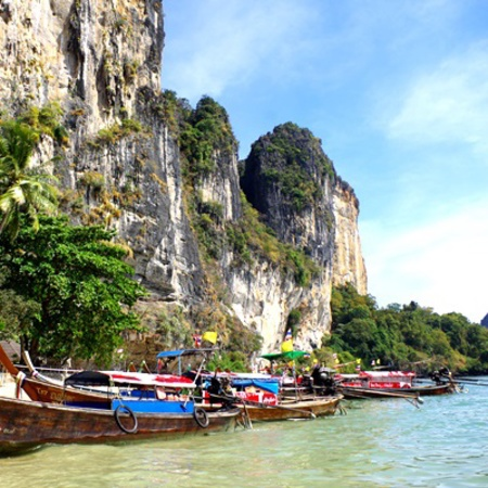 Thailand Travel Review - Andaman Coast - boats and sea - Where to go in Thailand - travel feature - handbag.com