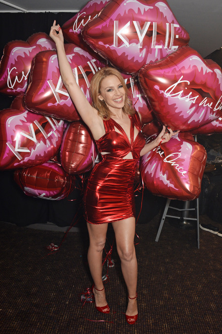 Kylie Minogue in red