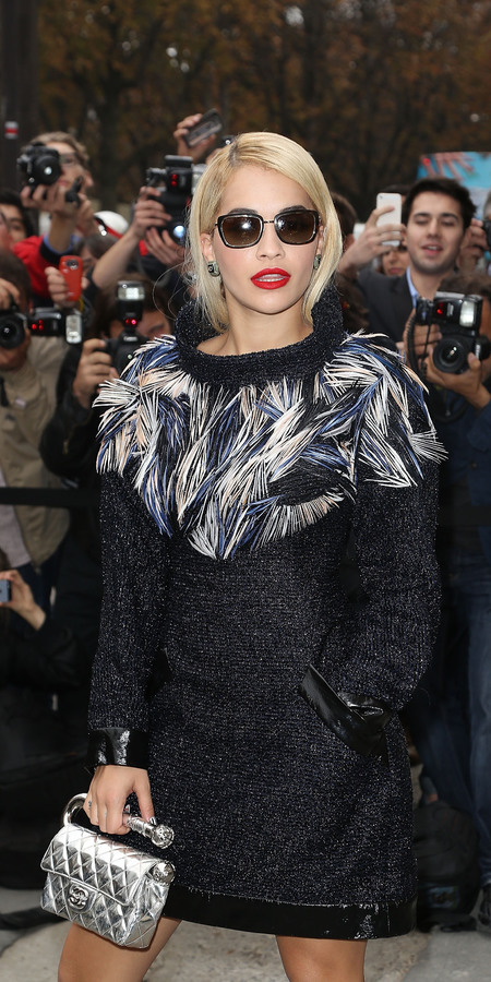 Rita Ora and her Chanel Runway Clutch