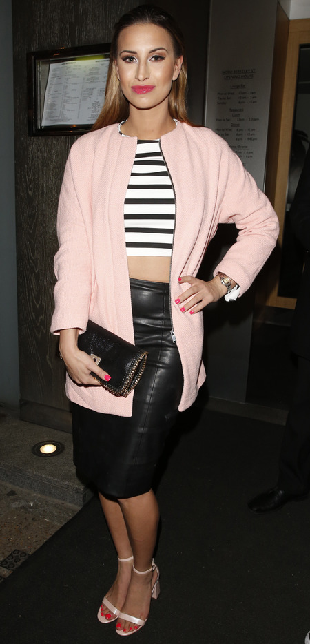towie fearne mcann in crop top and leather skirt - kim kardashian fashion trend - handbag.com
