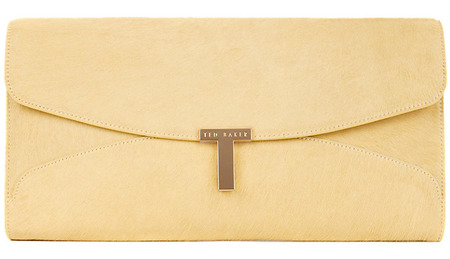 ted baker yelow clutch bag - john lewis - how to wear pastel trend - spring 2014 fashion trends - handbag.com