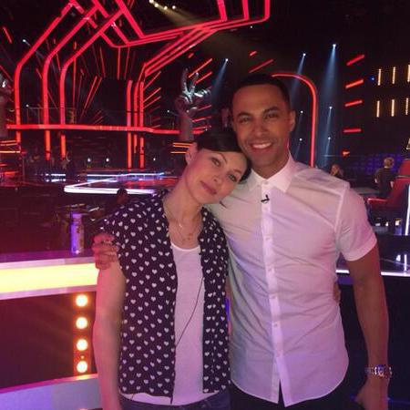 Emma Willis - heart print shirt - new look - the voice uk - rehersals - with marvin - handbag.com