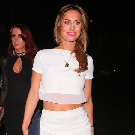 ferne mccann - white crop top and skirt - sheer - handbag.com