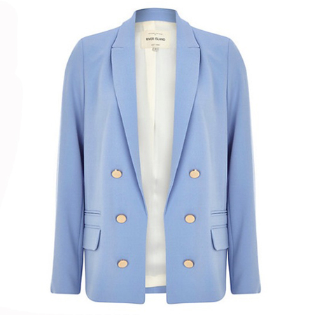 pastel blue blazer - river island - how to wear pastel trend - spring 2014 fashion trends - handbag.com