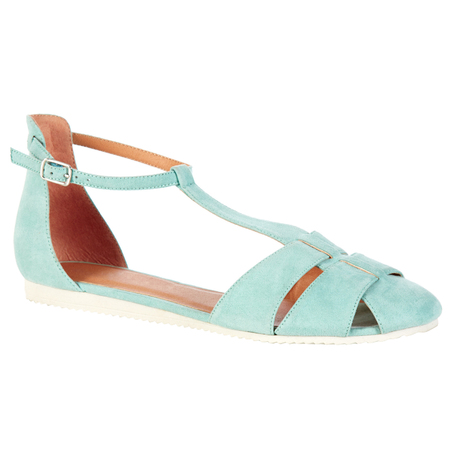 pastel green flat sandal shoes - primark - how to wear pastel trend - spring 2014 fashion trends - handbag.com