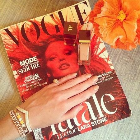 rosie huntington whiteley nude nails - tom ford nude nail polish - beauty and nail trends - handbag.com
