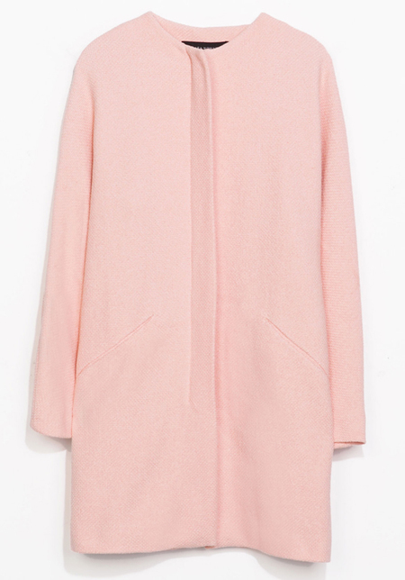 pastel pink coat - zara pink coat - how to wear pastel trend - fashion trends for spring 2014 - handbag.com