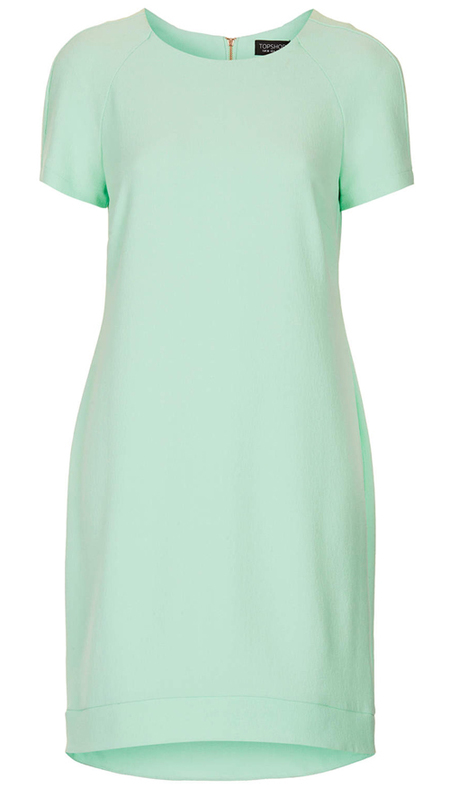 pastel mint green crepe dress - topshop dress - how to wear pastel fashion trend - spring 2014 fashion trends - handbag.com