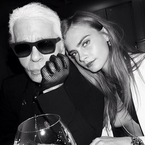 Karl Lagerfeld on Cara's selfies and tattoos