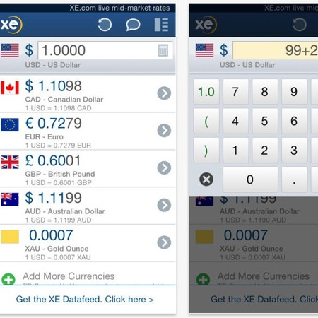 Xe currency - travel app - best travel apps - travel bag - handbag.com