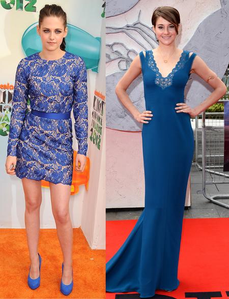 Shailene Woodley and Kristen Stewart love a blue Stella McCartney dress