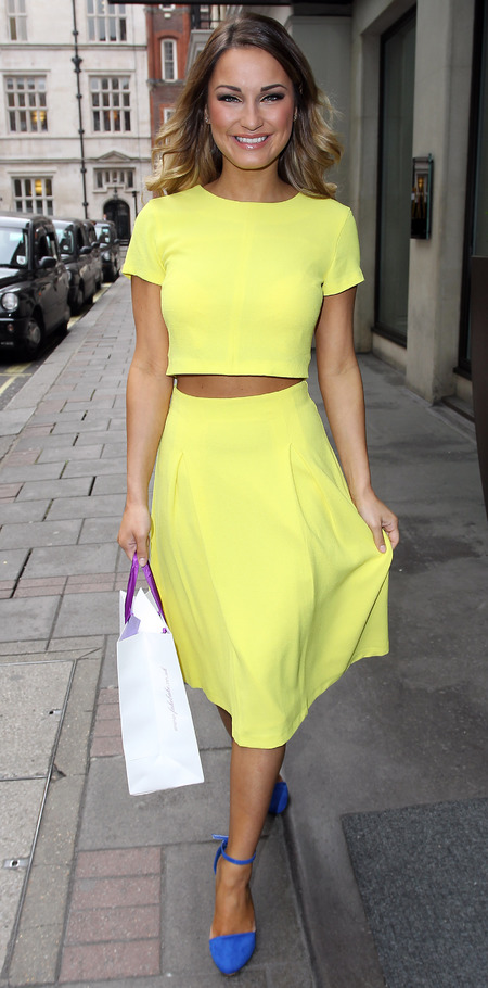 TOWIES's Sam Faiers' spring ready crop top and matching skirt