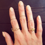 There are new ways to wear rings?