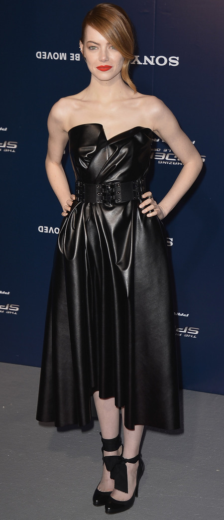 Black leather Lanvin dress
